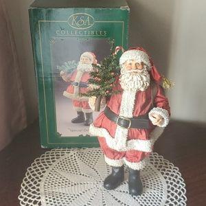 """Kurt Adler Fabriche Santa """"Special Delivery"""" VTG"""